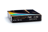 Air Optix Colors - Brown Contact Lenses - prescription box view