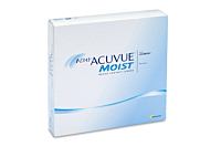 1 Day Acuvue Moist Contact Lenses - front of the box