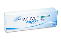 1 Day Acuvue Moist Multifocal Contact Lenses - front of the box