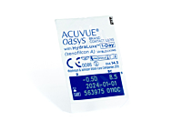 Acuvue Oasys 1 Day Contact Lenses - lens packaging