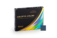 Air Optix Colors - Blue Contact Lenses - front of the box