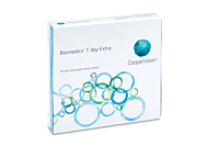 Biomedics 1 Day Extra Contact Lenses - front of the box