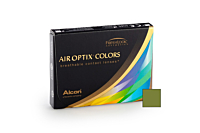 Air Optix Colors - Gemstone Green Contact Lenses - Front of the box