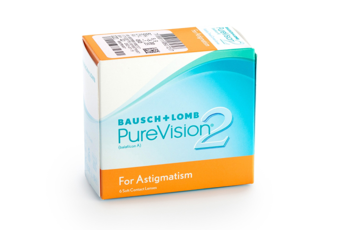 PureVision2HD for Astigmatism Contact Lenses - front of box