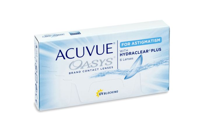 Acuvue Oasys for Astigmatism Contact Lenses - front of the box