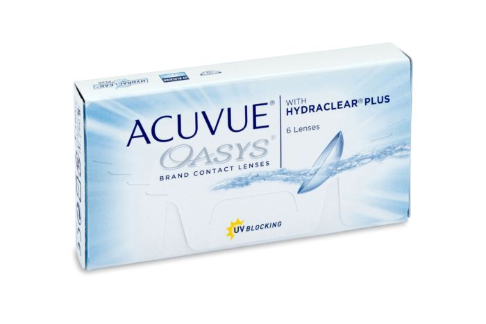 Acuvue Oasys Contact Lenses - front of the box