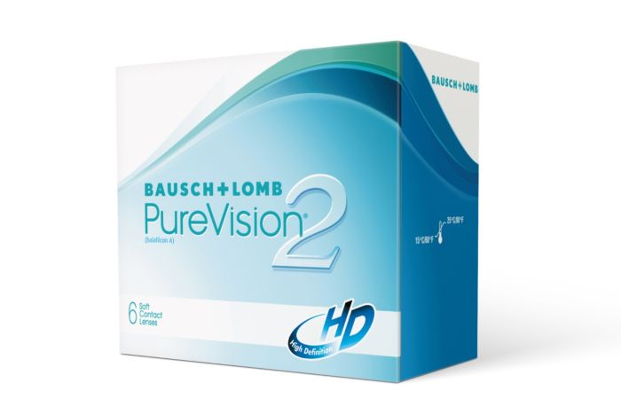 PureVision2 HD contact Lenses - front of the box
