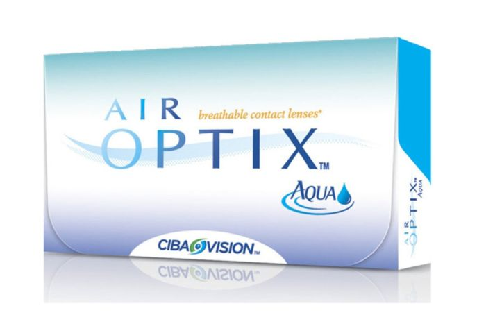 Air Optix Aqua Contact Lenses - front of the box