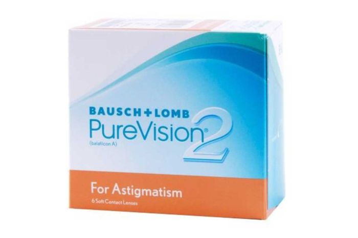 PureVision2 for Astigmatism Contact Lenses - front of the box