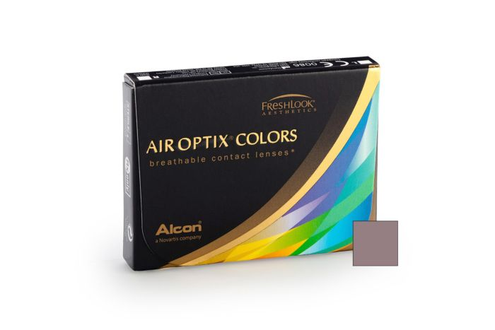 Air Optix Colors - Grey Contact Lenses - front of the box