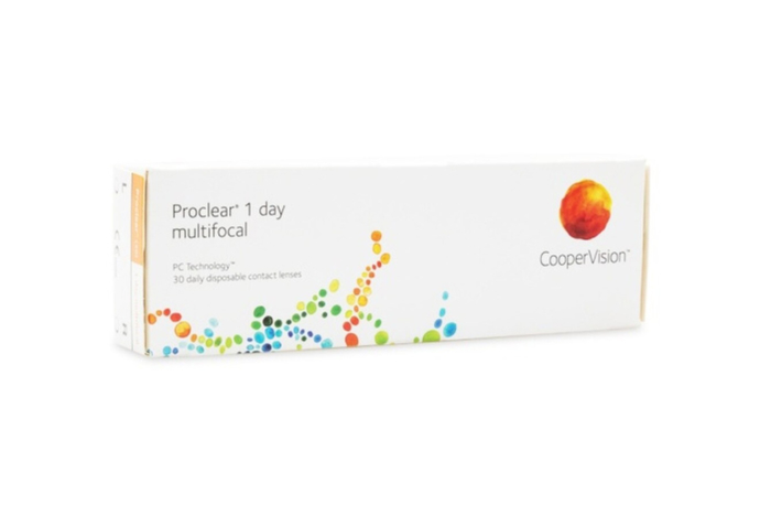 Proclear 1 Day Multifocal Contact Lenses - front of the box