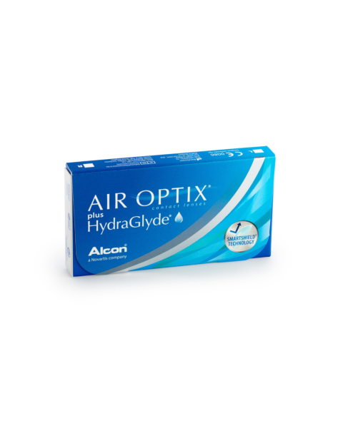 Air Optix plus HydraGlyde Contact Lenses - front of the box