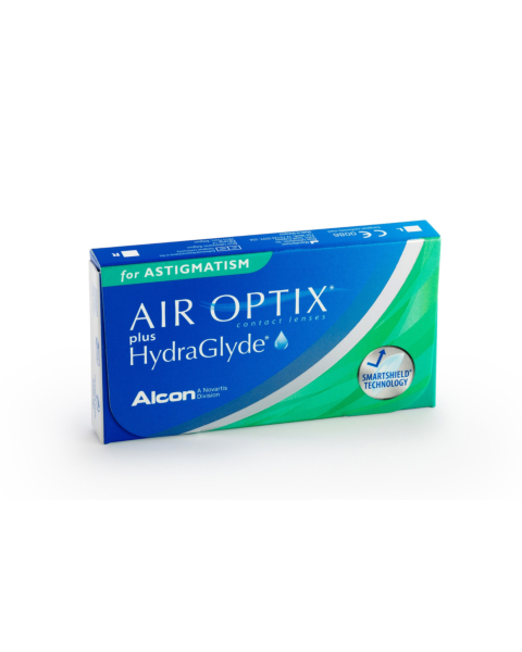 Air Optix plus HydraGlyde for Astigmatism Contact Lenses - front of the box
