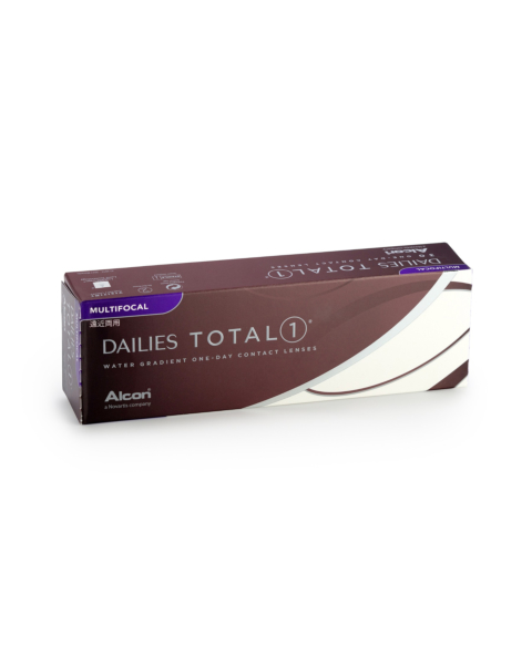 Dailies TOTAL 1 Multifocal Contact Lenses - front of the box