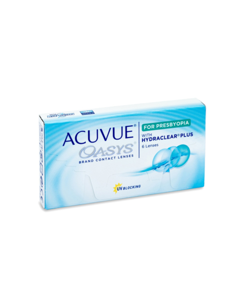 Acuvue Oasys for Presbyopia Contact Lenses - front of the box