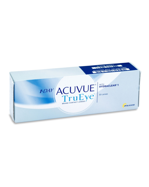 1 Day Acuvue Trueye Contact Lenses - front of the box
