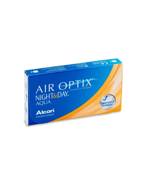 Air Optix Night and Day Aqua Contact Lenses - front of the box