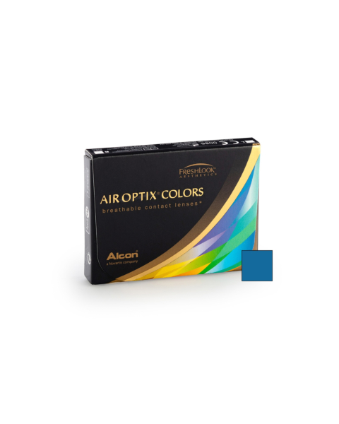 Air Optix Colors - Brilliant Blue Contact Lenses - front of the box
