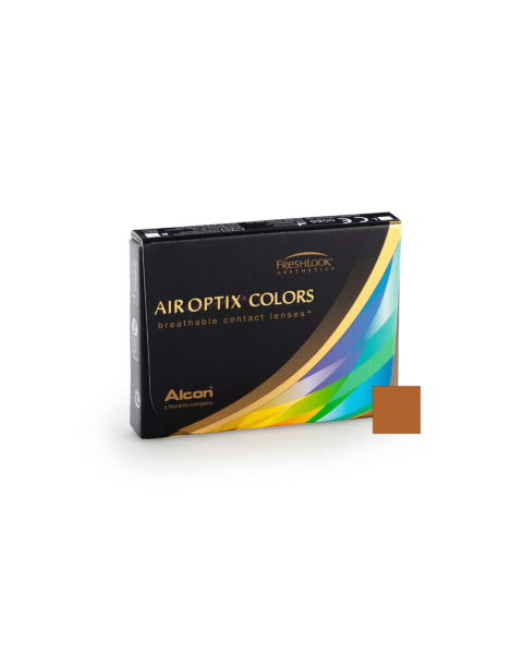 Air Optix Colors - Brown Contact Lenses - front of the box