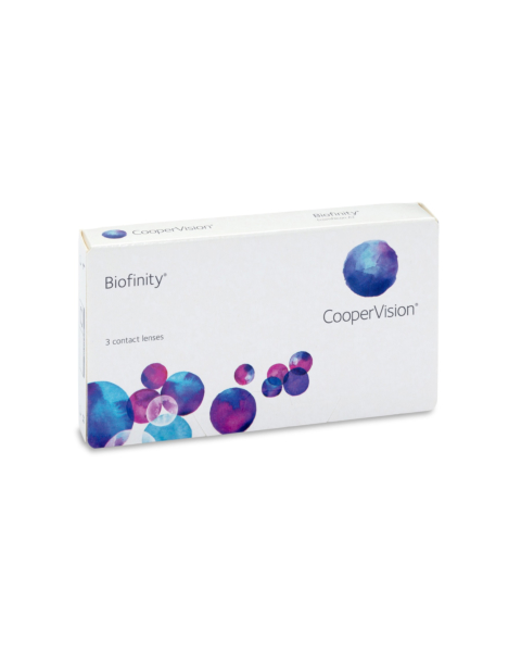 Biofinity Contact Lenses - front of box