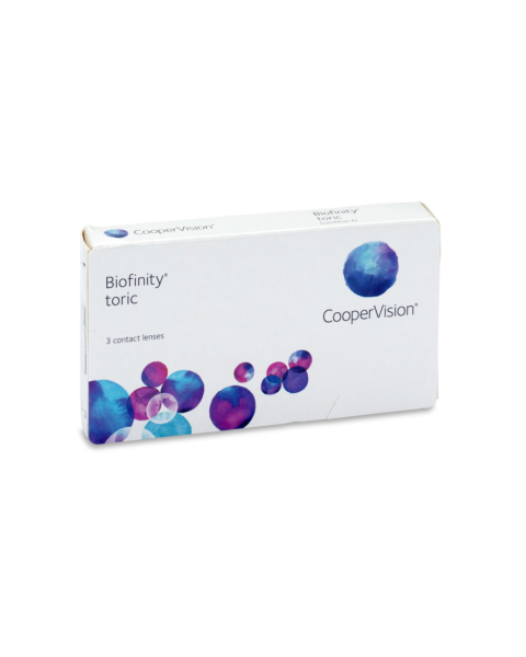Biofinity Toric Contact Lenses - front of the box