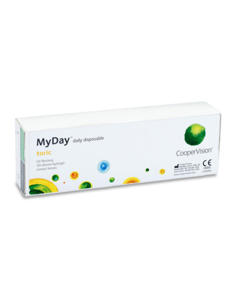 MyDay Toric Contact Lenses - front of the box