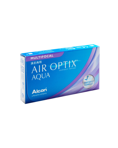 Air Optix Aqua Multifocal Contact Lenses - front of the box