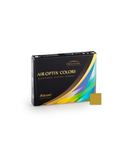 Air Optix Colors - Pure Hazel Contact Lenses - front of the box