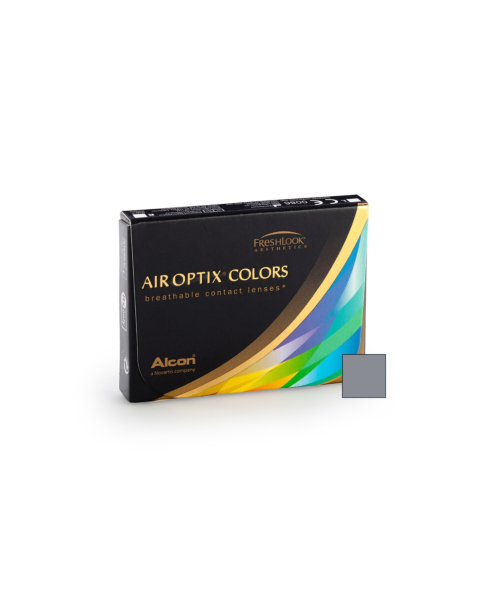 Air Optix Colors - Sterling Grey Contact Lenses - front of the box